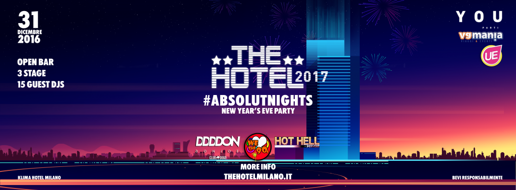 the hotel 2017 milano capodanno open bar