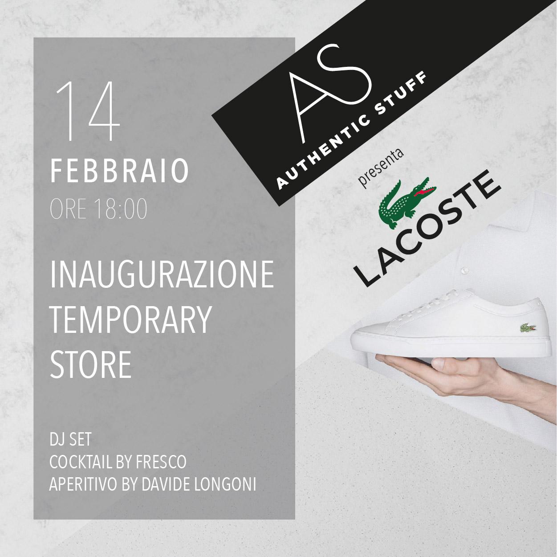 Lacoste opening Milano evento