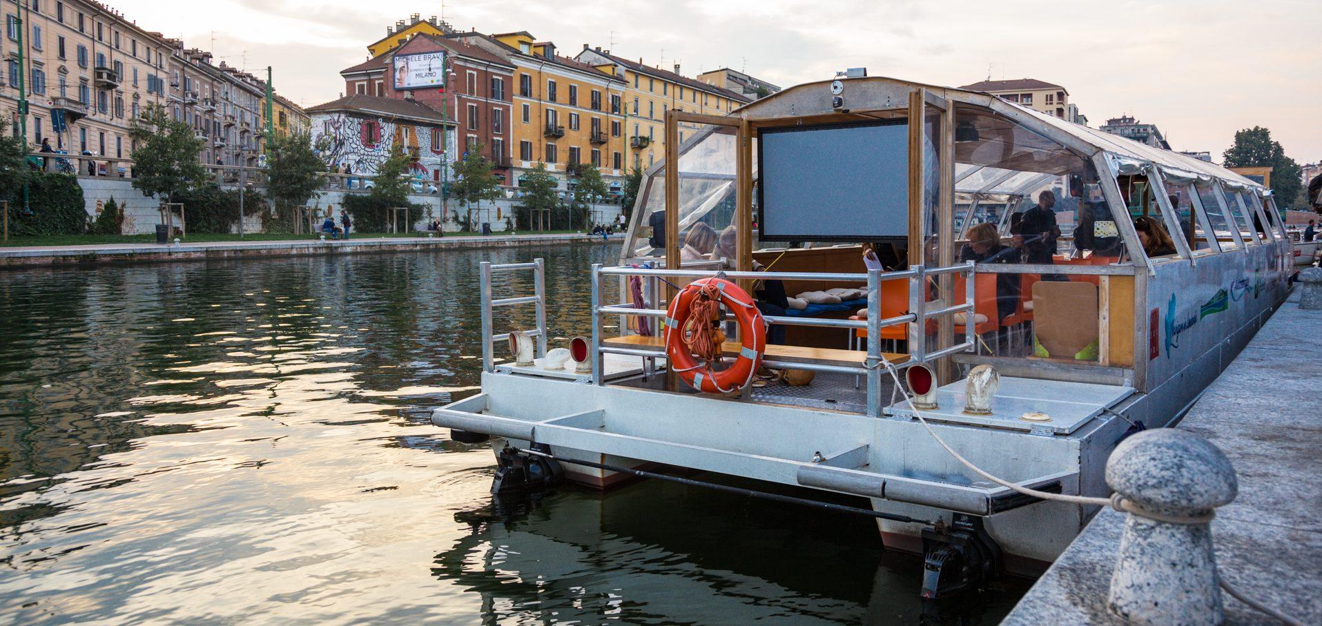 Cinema sull'acqua dei Navigli