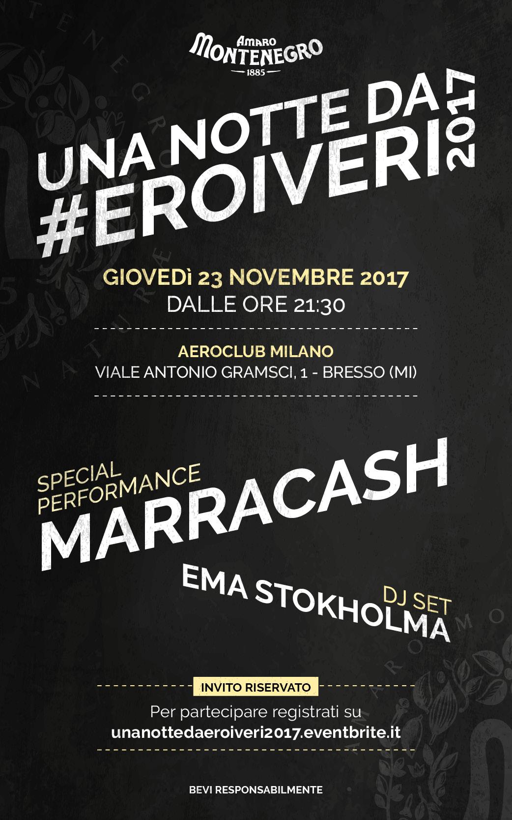 UNA NOTTE DA #EROIVERI 2017