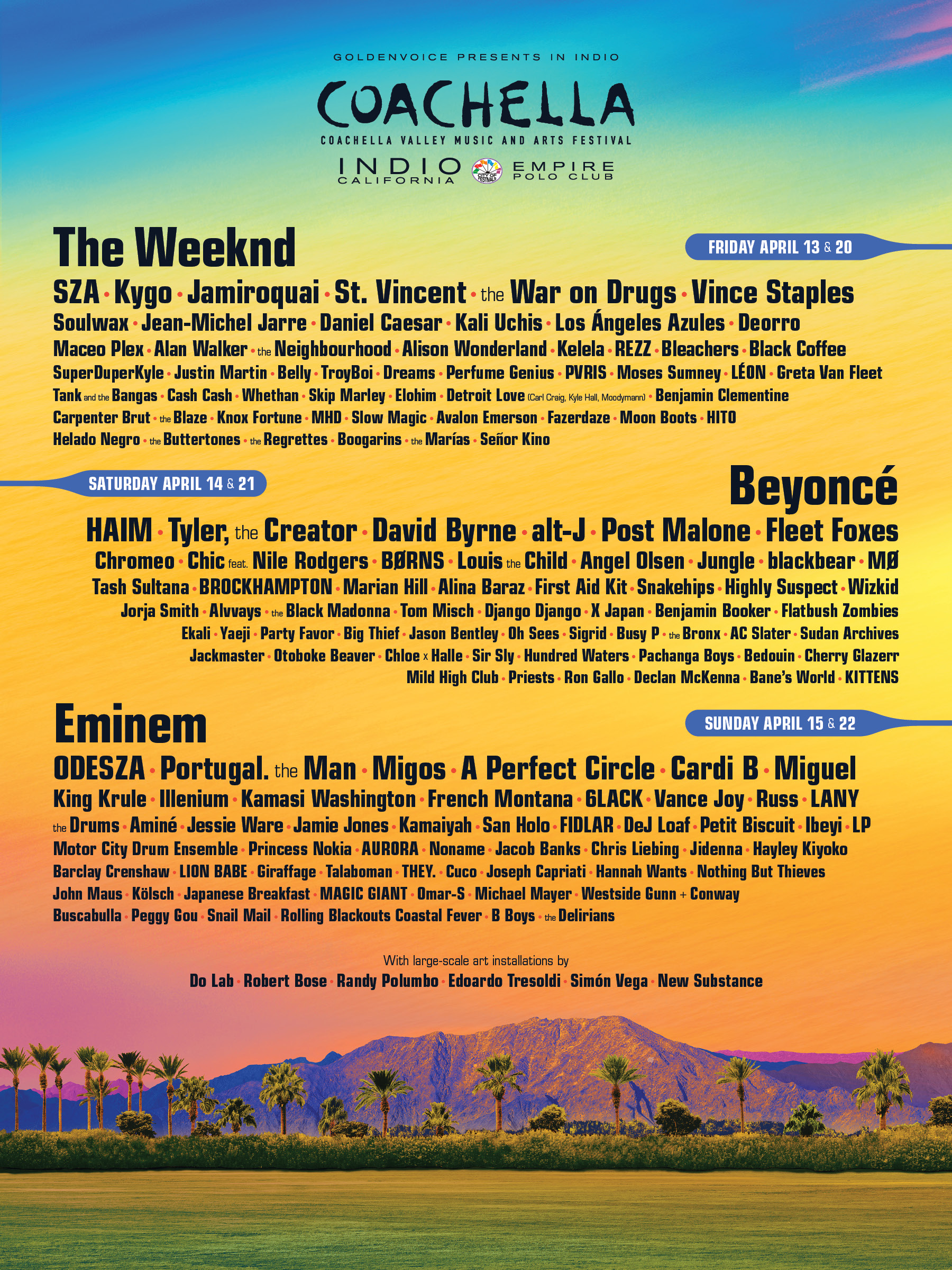 Coachella line up 2018 Beyoncé
