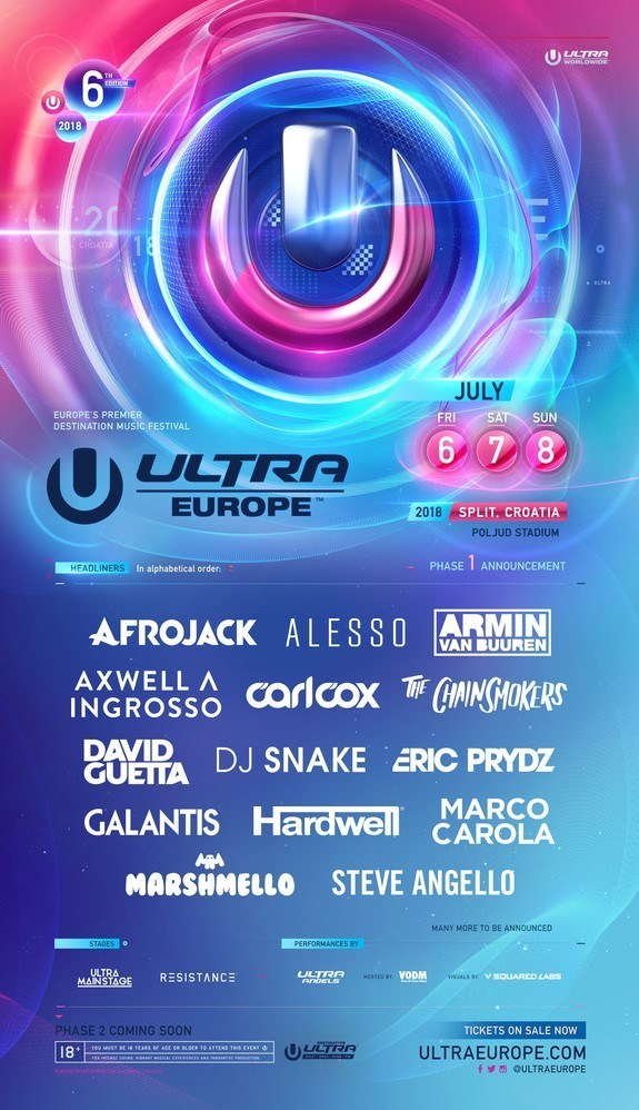 Ultra Europe 2018 line-up
