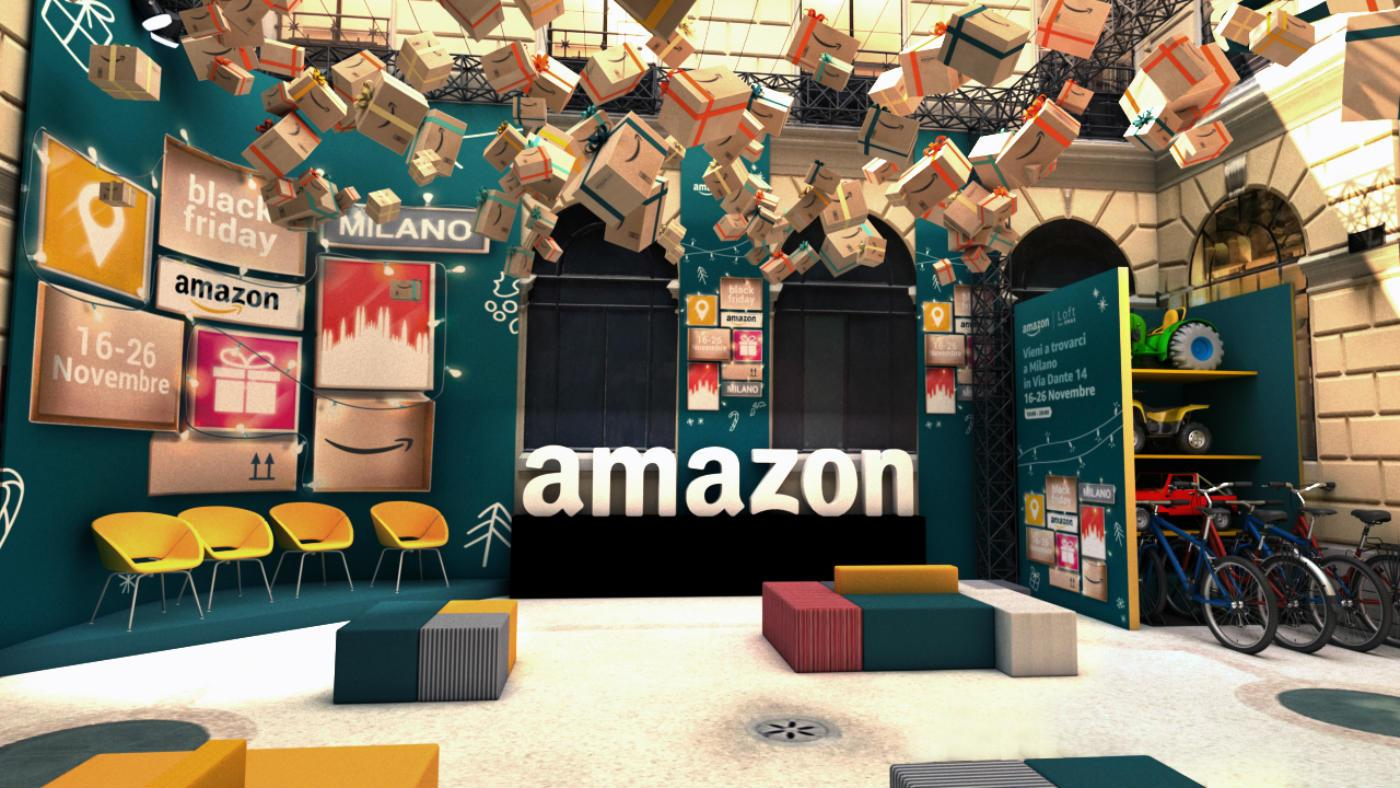 Amazon apre a Milano per il Black Friday