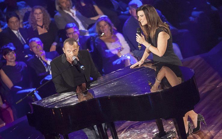 Laura Pausini & Biagio Antonacci a Milano   YOUparti stadio san siro milano