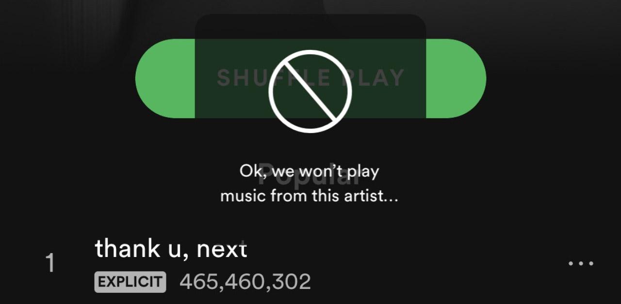 Spotify blocco artisti
