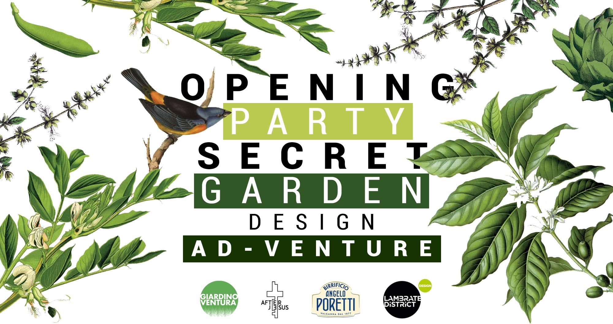 Opening Party Secret Garden / Design Ad-Venture