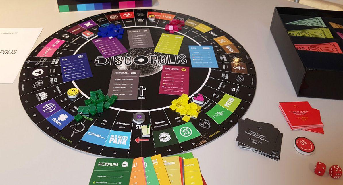 Discopolis, il gioco da tavolo delle discoteche