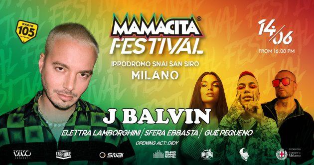 Mamacita Festival - J.Balvin and many more MILANO ippodromo snai san siro milano