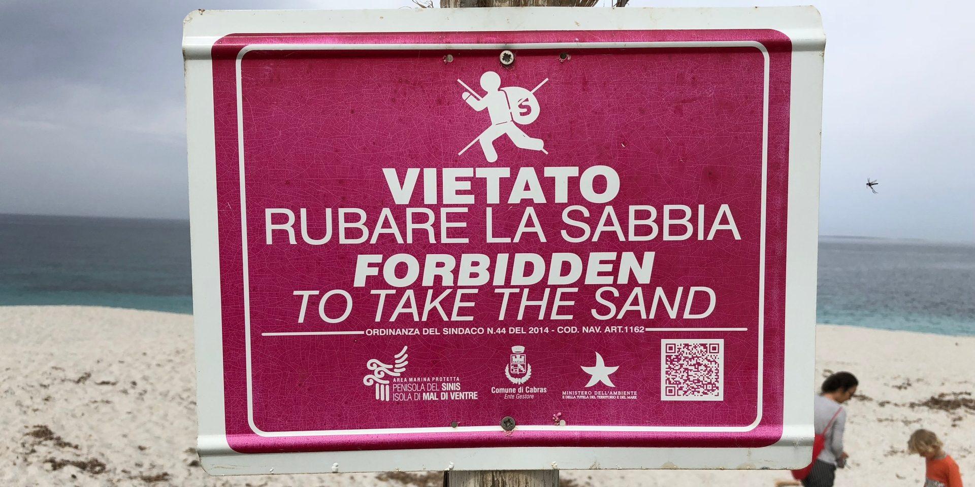 Vietato rubare sabbia