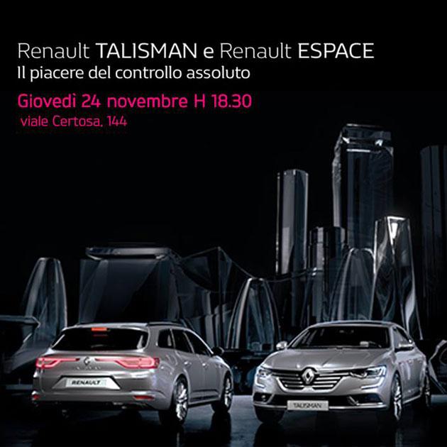 Renault Talisman & Espace con sistema 4control
