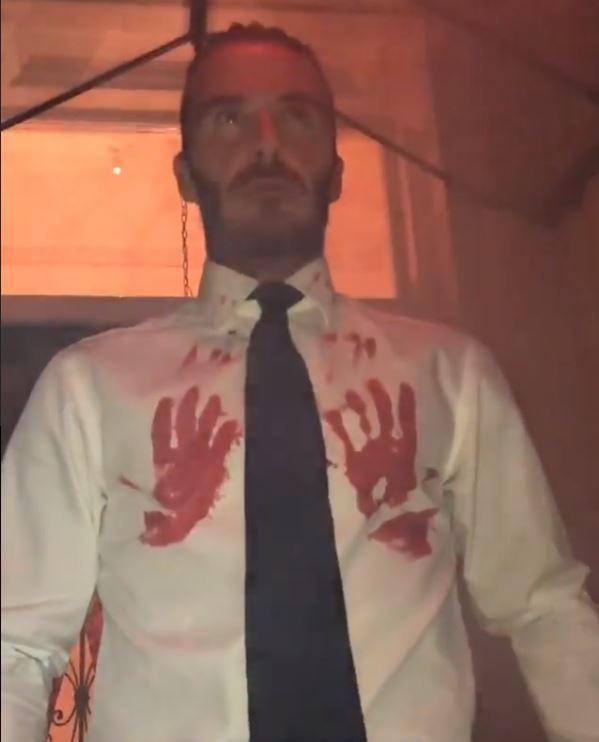 David Beckham Halloween vip