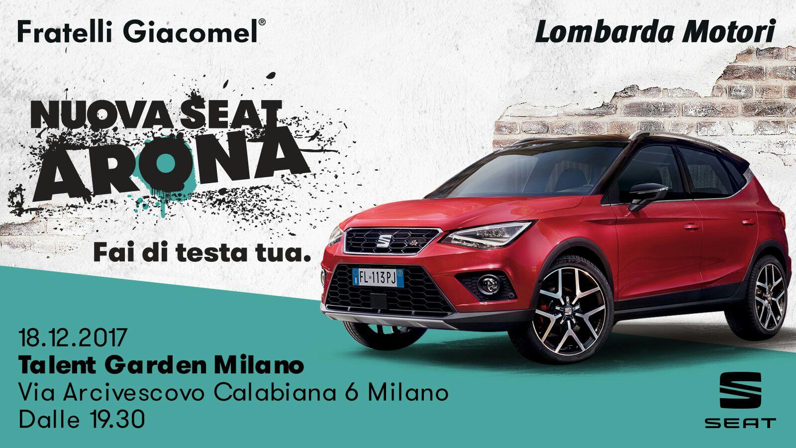 Nuovo Seat Arona / Special Event MILANO youparti special auto