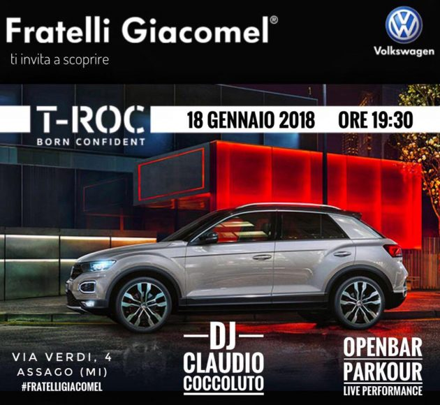 T-Roc con Claudio Coccoluto & Open Bar | YOUparti