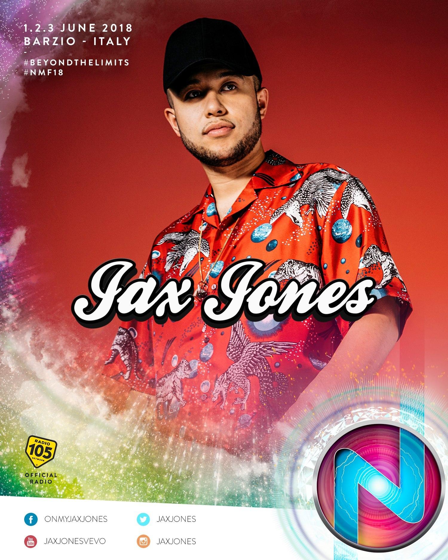Nameless Music Festival 2018 annunciata la line up Jax Jones