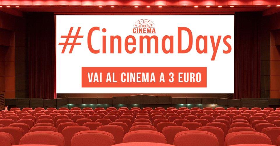 CinemaDays al cinema con 3 euro