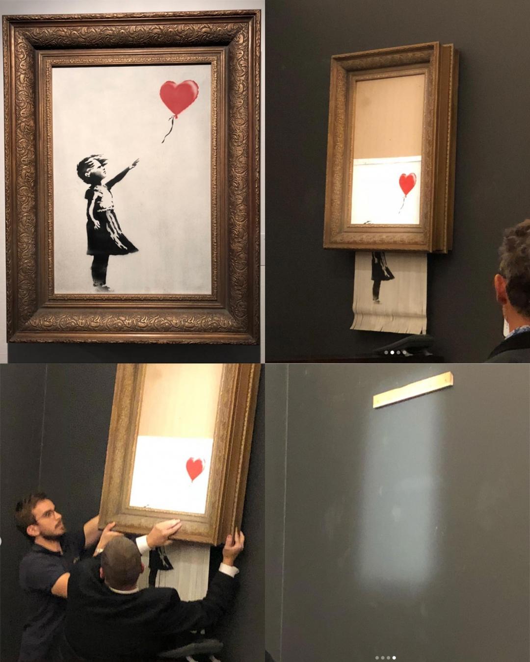 Banksy l'opera si autodistrugge