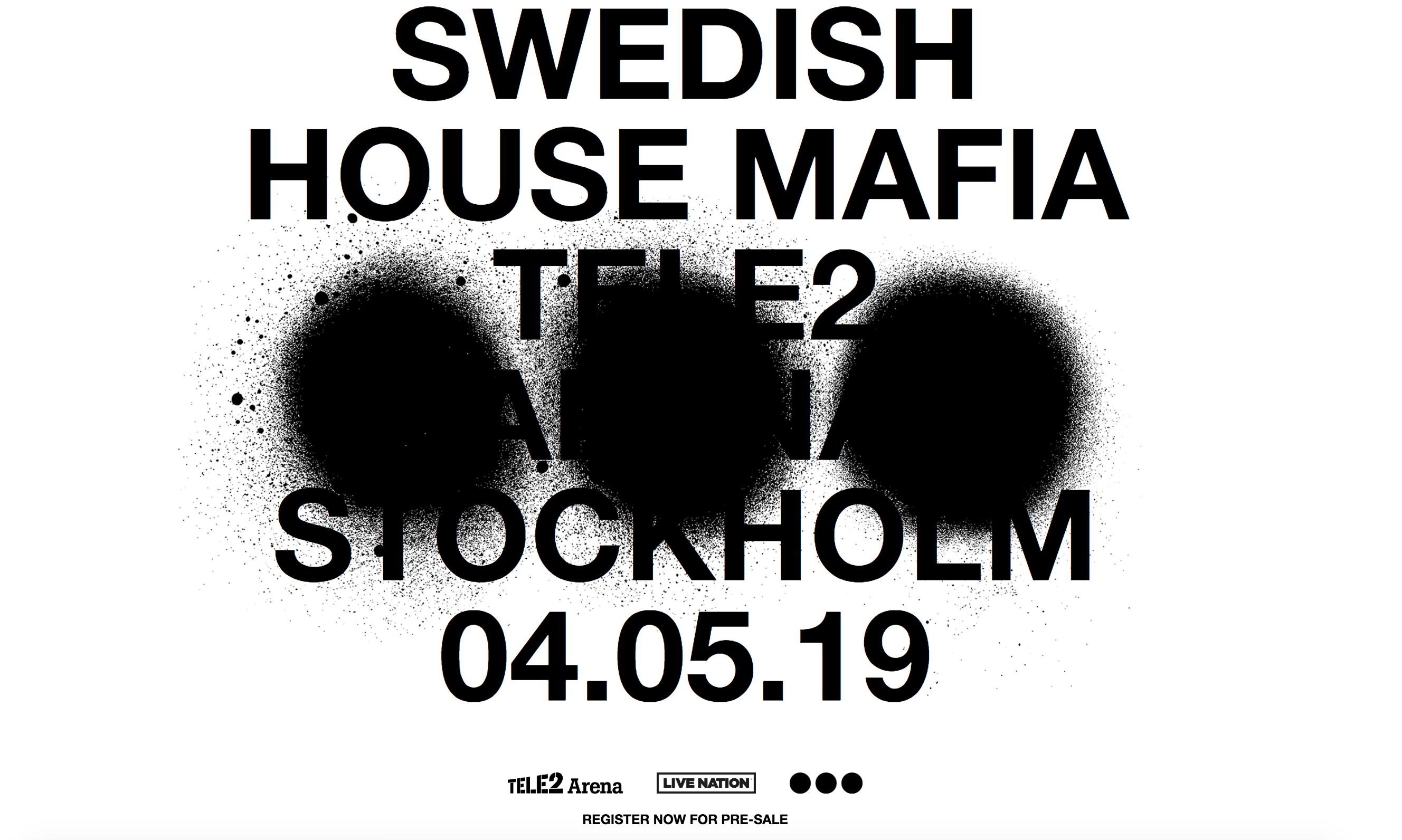 Swedish House Mafia la prima data del tour