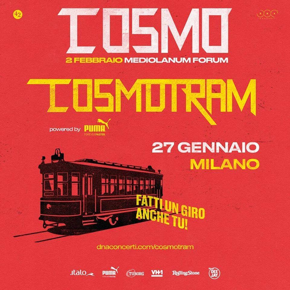 Cosmo suonerà su un Tram a Milano