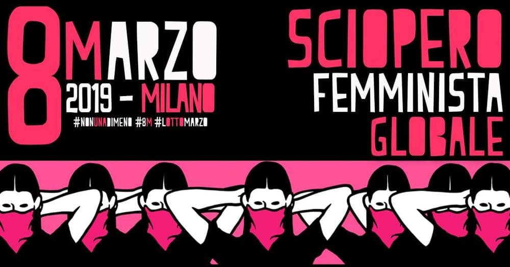 Sciopero femminista Milano 8 marzo