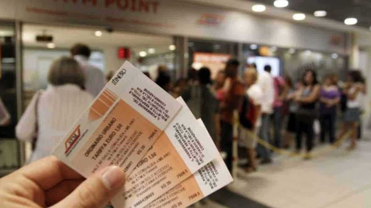 Milano atm biglietto timbratura multipla metro