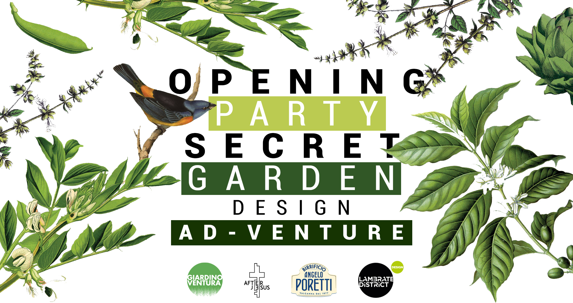 Opening Party Secret Garden / Design Ad-Venture