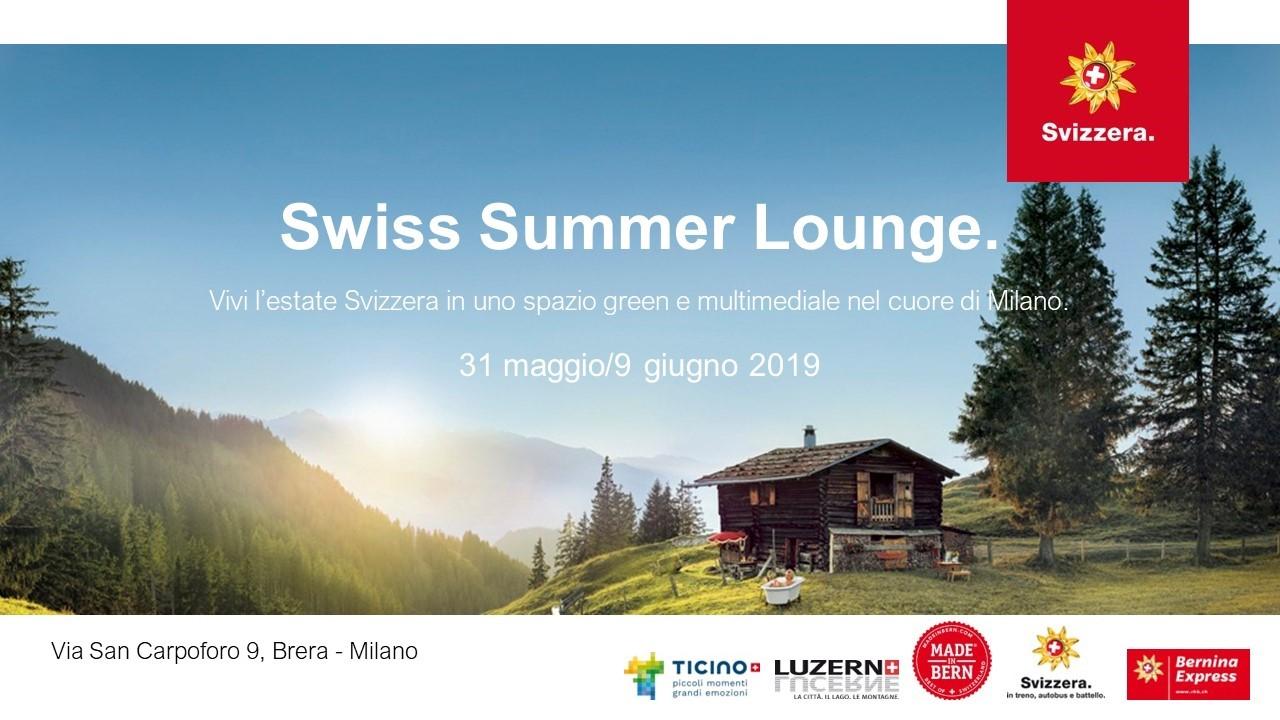 Swiss Summer Lounge: l'estate Svizzera nel cuore di Milano | YOUparti brera svizzera