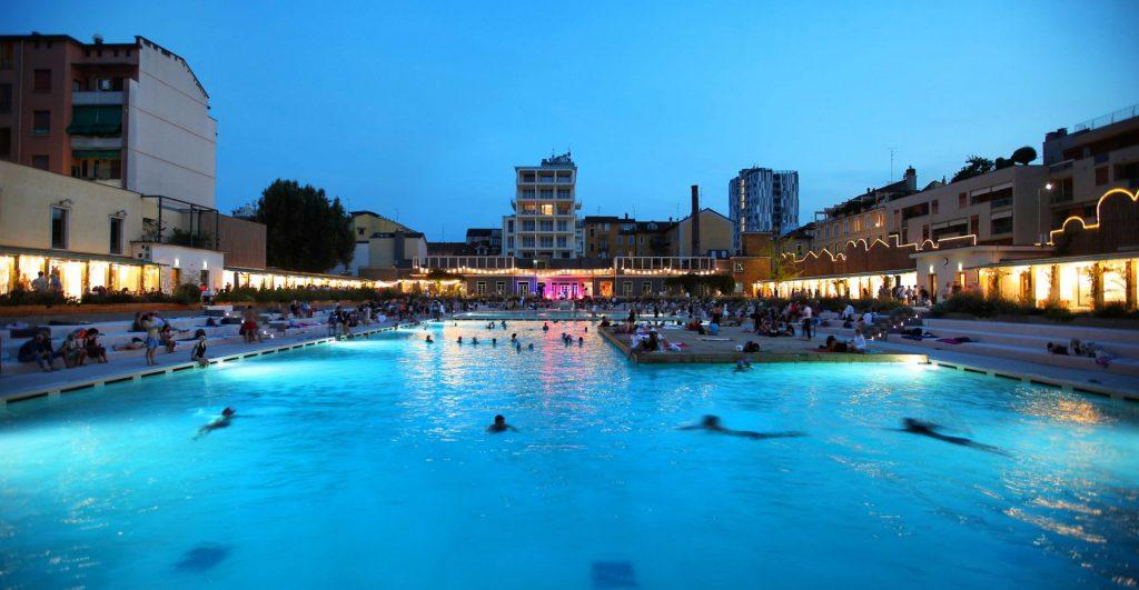 Closing Party Milano Fashion Week 2019 YOUparti Bagni Misteriosi piscina aperitivo dj set musica party