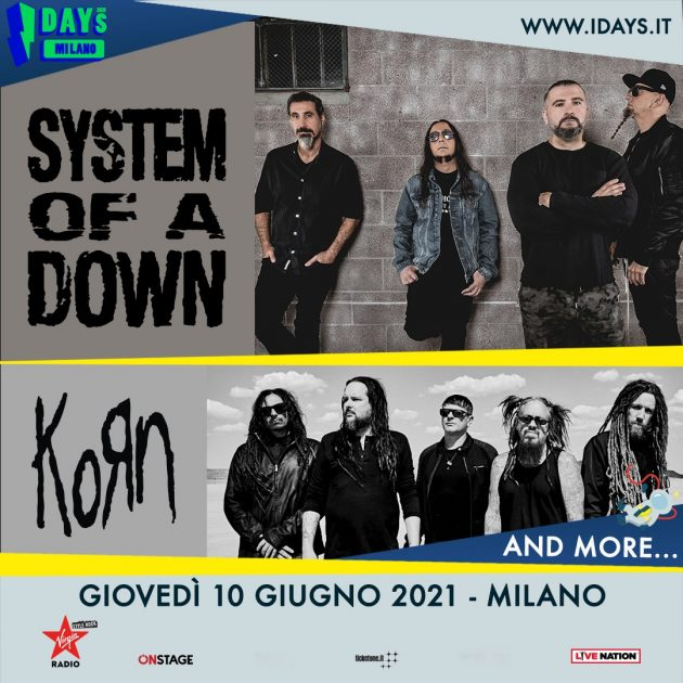 System of a Down a Milano youparti MIND Milano Innovation District (Area Expo) - I-Days 201
