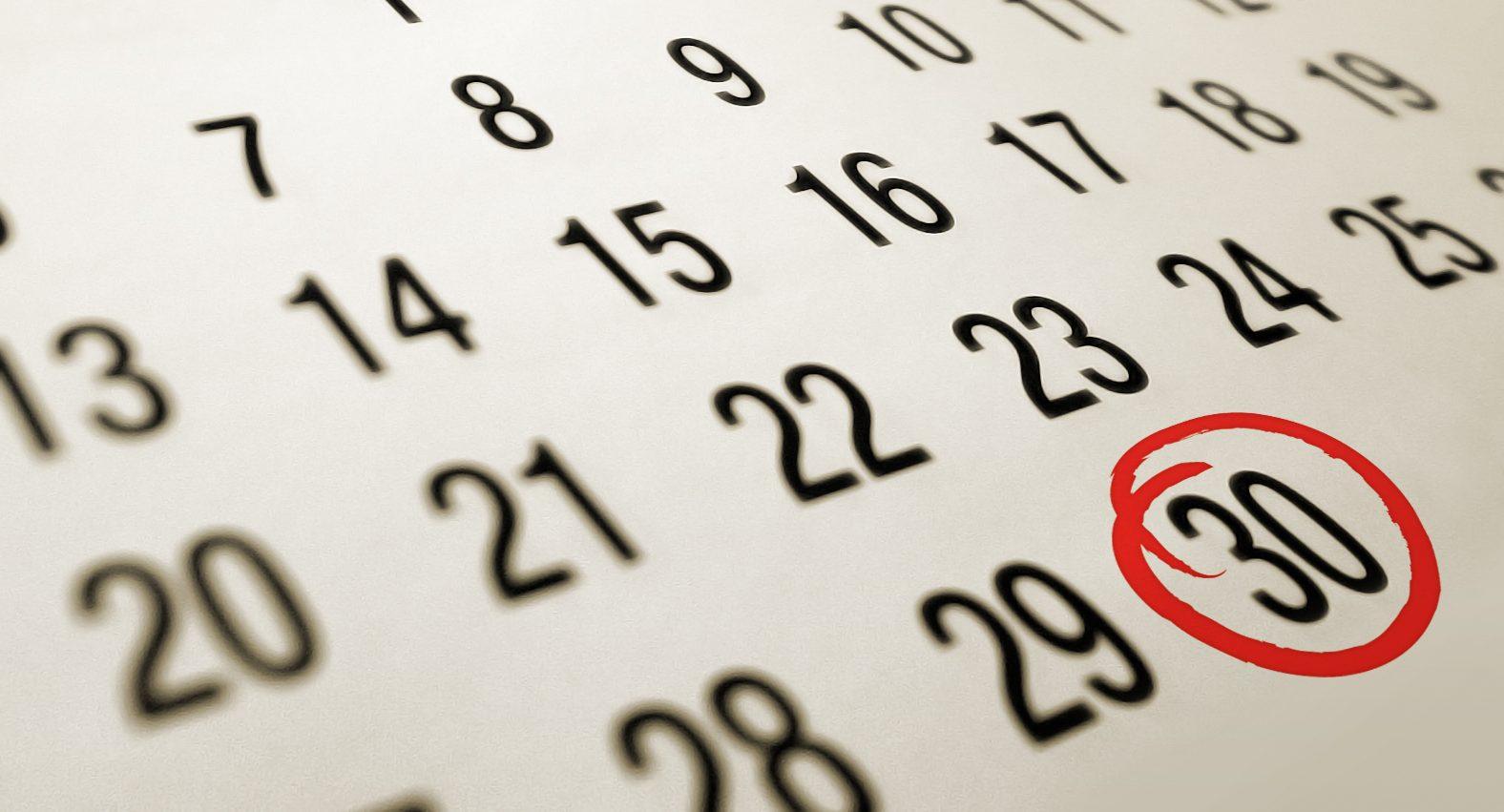 Calendario 2020 festività e ponti