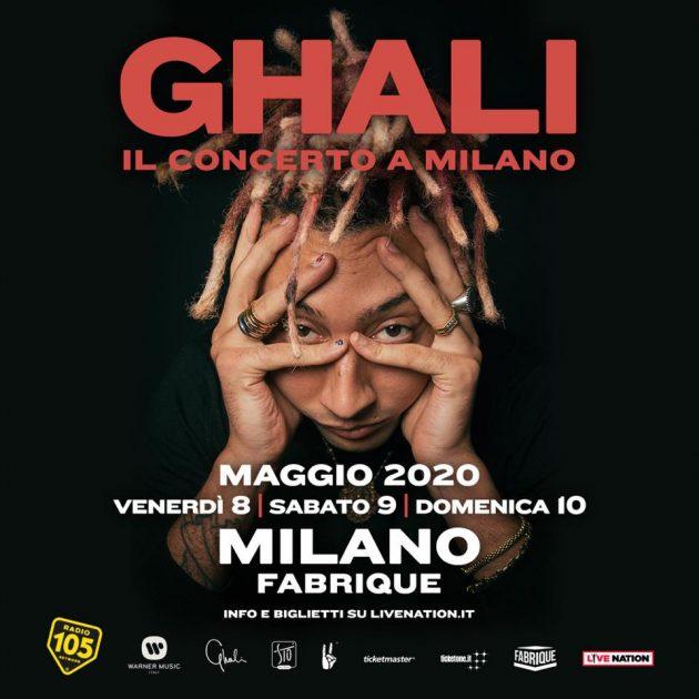 Ghali in concerto a Milano Fabrique Maggio YOUparti