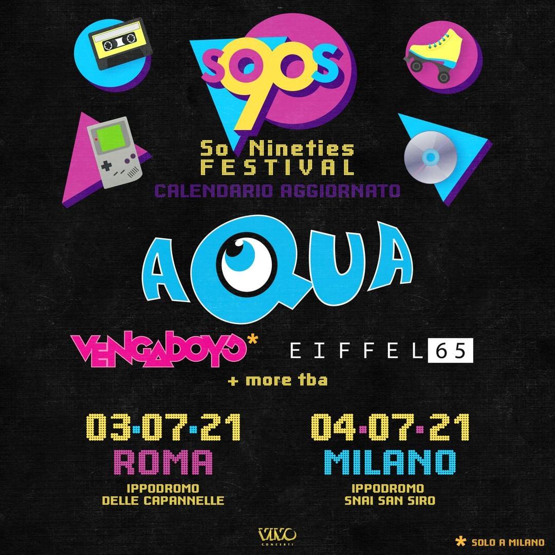 So 90's a Milano Festival YOUparti Ippodromo Snai San Siro Aqua Vengaboys Eiffel 65