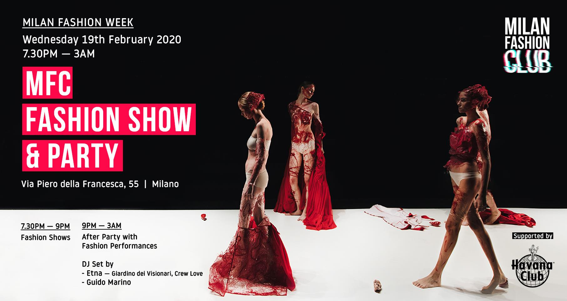 MFC FASHION SHOW & PARTY YOUparti fashion week 55 Milano party
