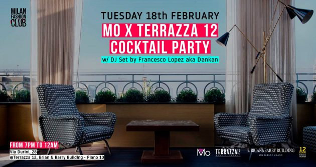 MO x TERRAZZA 12 COCKTAIL PARTY | Milan Fashion Week YOUparti