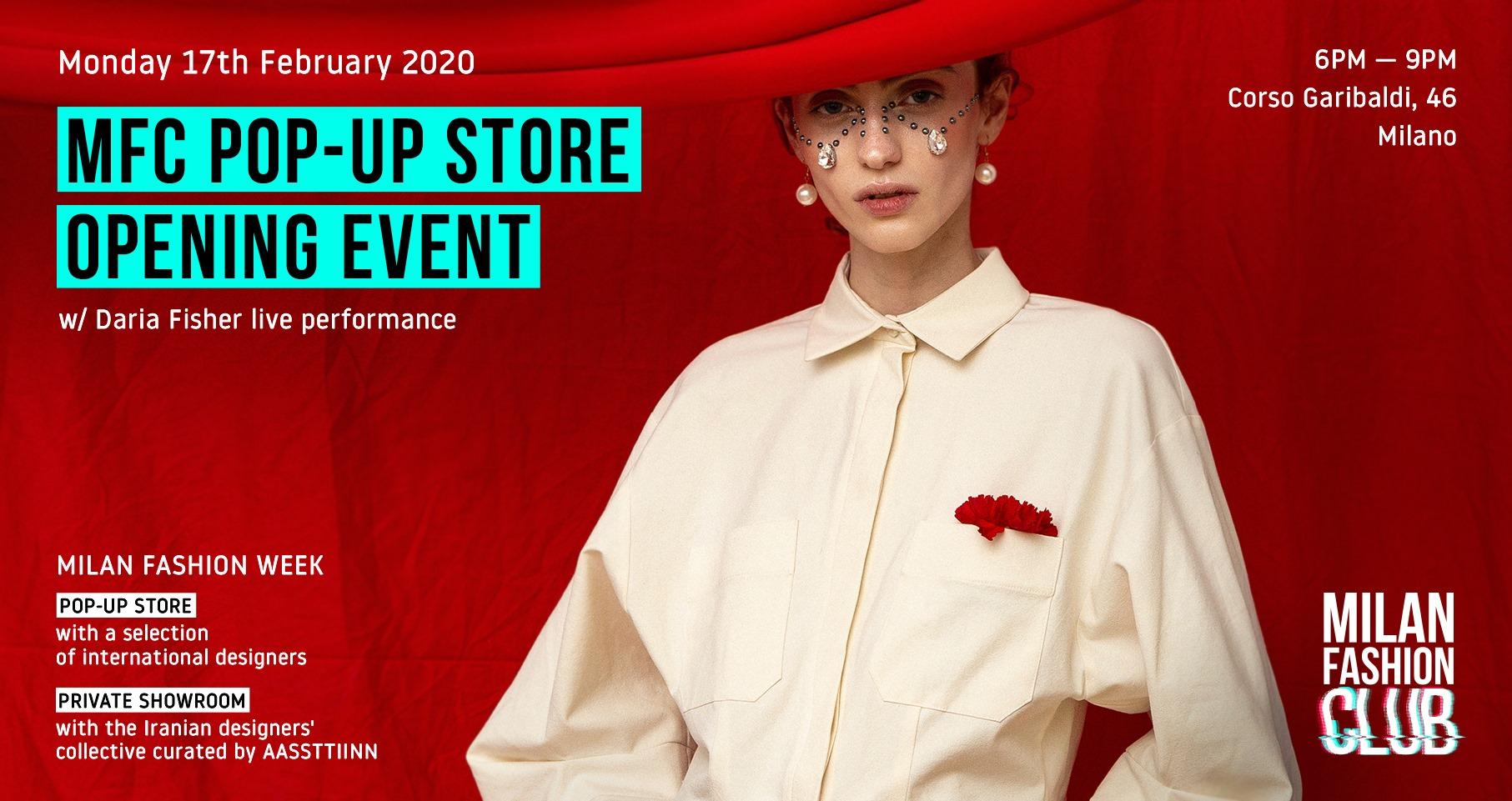 MFC Pop-Up Store OUparti corso garibaldi milano fashion week