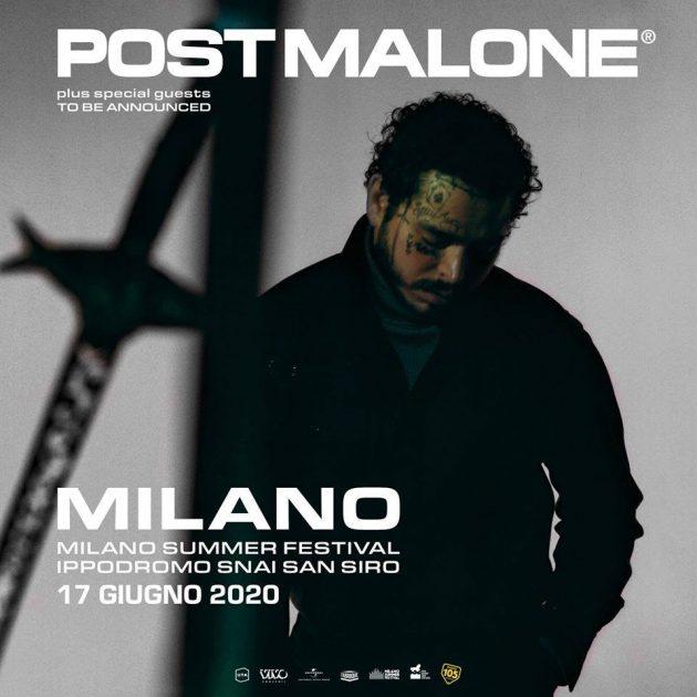 Post Malone YOUparti Ippodromo SNAI San Siro - Milano Summer festival