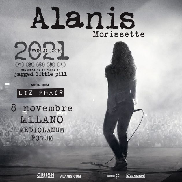 Alanis Morissette a Milano YOUparti Mediolanum Forum Assago