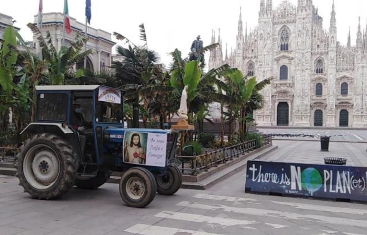 Il ragazzo di campagna 2020 torna a Milano YOuparti Pavia Duomo Trattore Coronavirus