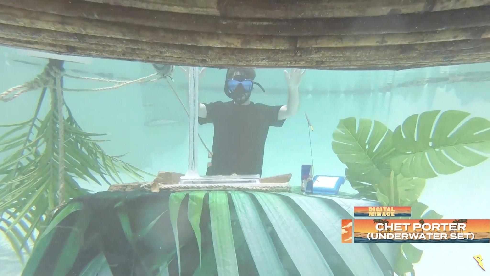 Un dj set sott'acqua? Si può! YOUparti Chet Porter