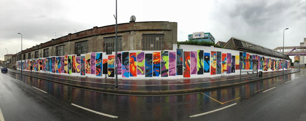 Un nuovo murales che celebra la musica rap YOUparti