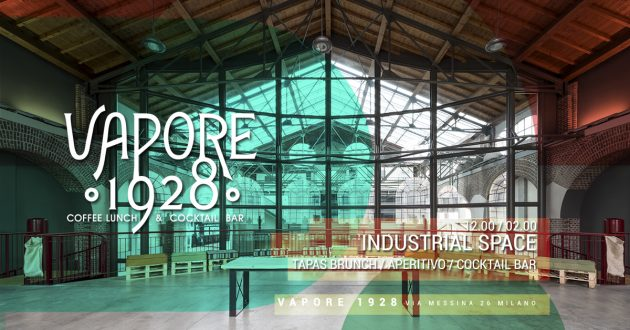 VAPORE 1928 | Brunch & Aperitivo in the Industrial Space YOUparti